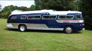 stunning 1957 Flxible Starliner converted into motorhome