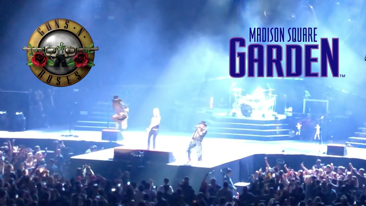 Guns N Roses Paradise City Live Madison Square Garden New York 16 October 2017 Youtube