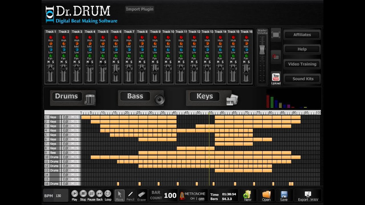 drum machine software for pc youtube. Black Bedroom Furniture Sets. Home Design Ideas