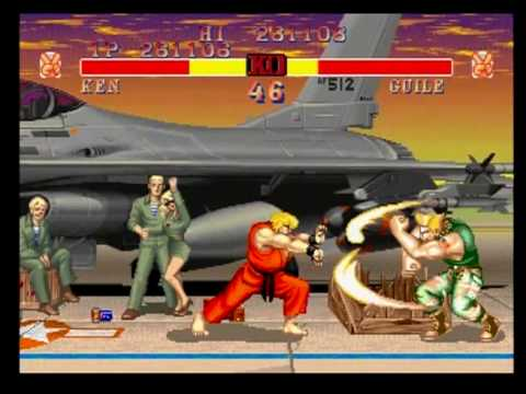 Guile S Stage Street Fighter Ii Champion Edition Playstation