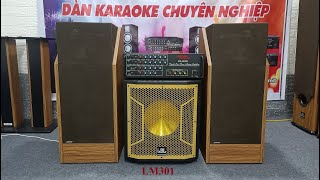 Bộ dàn nghe nhạc hát karaoke gồm loa bose 601 seri 3, amply 203N, trầm bass 30 quá chất giá 5xxx