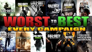 Ranking Every Call of Duty Campaign From WORST to BEST
