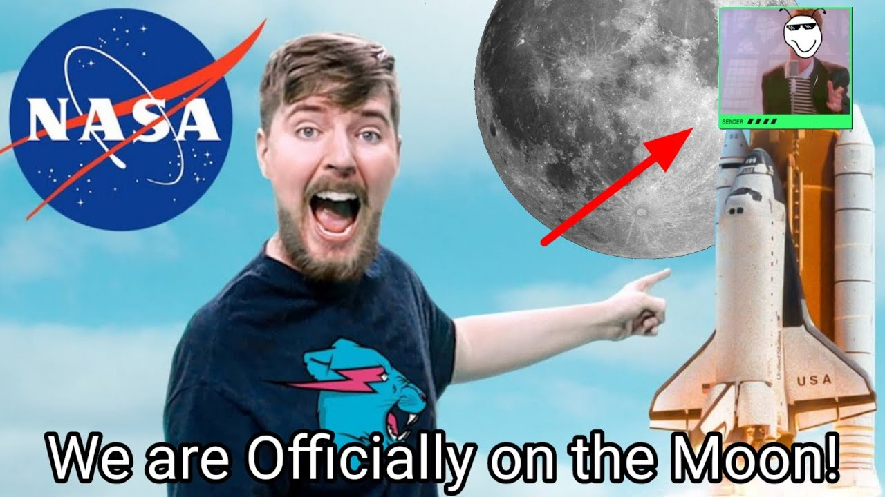 I sent a picture with MrBeast of our channel to the Moon!🌙