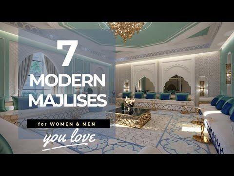 Arabic majlis interior design in modern luxury style