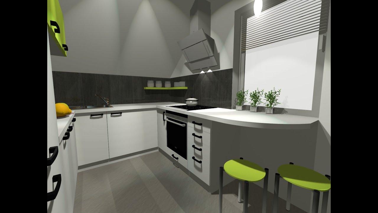 Projekt Kuchni Ze Skosem Jak Zaprojektowac Kuchnie Ze Skosem Youtube
