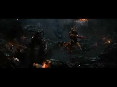 "Iron Man 2 War Machine Drone Battle Scene - Knife Party ""Bonfire"""