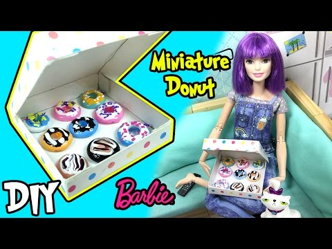 DIY - How to Make Donut For Dolls - Miniature Doll Food - Making Kids Toys