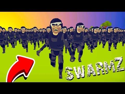 Столько ЗОМБАКОВ Я Еще НЕ ВИДЕЛ! Финальная БИТВА ЛЮДЕЙ против ЗОМБИ в Игре SwarmZ от CoolGAMES