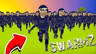 I've NEVER SEEN so many ZOMBIES before! The final BATTLE in the game SwarmZ