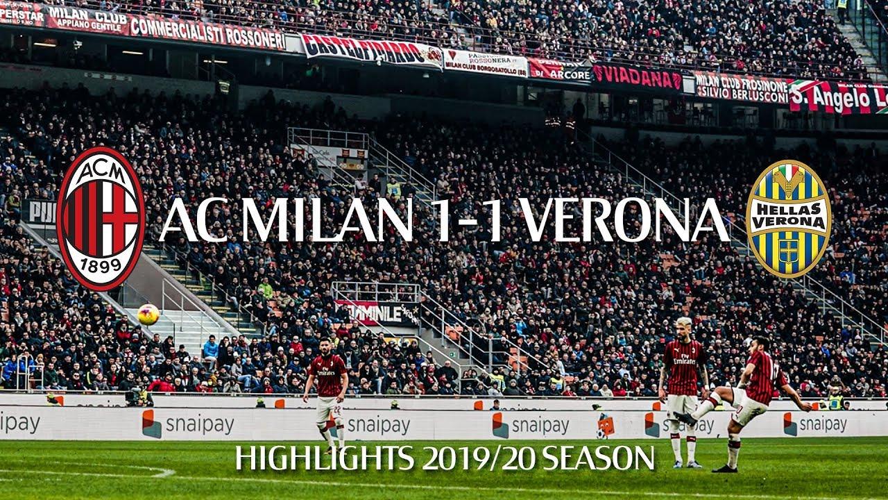 Highlights | AC Milan 1-1 Hellas Verona | Matchday 22 ...