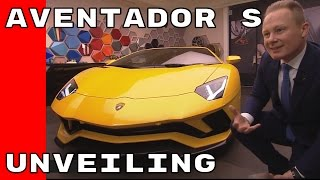 The new Lamborghini Aventador S is characterized by new aerodynamic...