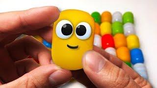 ЖИВА КАПСУЛА - Відкриваємо 50 СЮРПРИЗІВ і дістаємо іграшки Лунтік, фігурки Маша і Ведмідь і ін