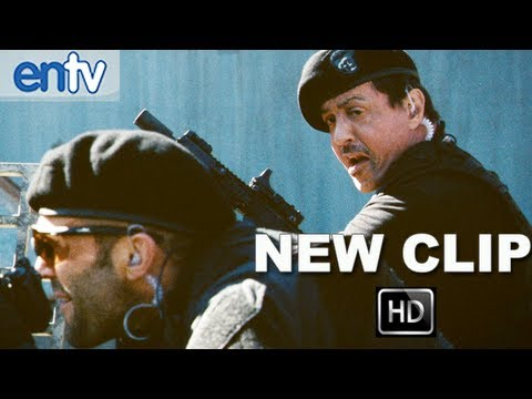 "The Expendables 2 ""Water Tower"" Official Clip [HD]: Killing A Helicopter With A Motorcycle"