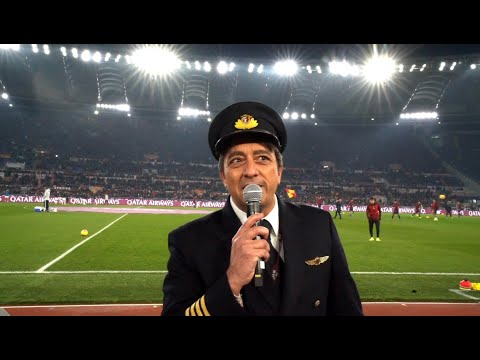 Qatar Airways x AS Roma at Stadio Olimpico in Rome, Italy