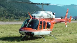 Bell 206LT TwinRanger Helicopter Engine Startup and Takeoff