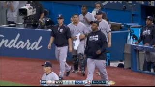BENCHES CLEAR TWICE (Yankees vs. Blue Jays) Sept 26