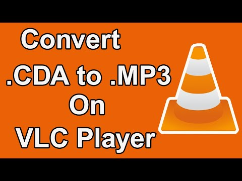 How to convert CDA file to Mp3 file on Vlc Player