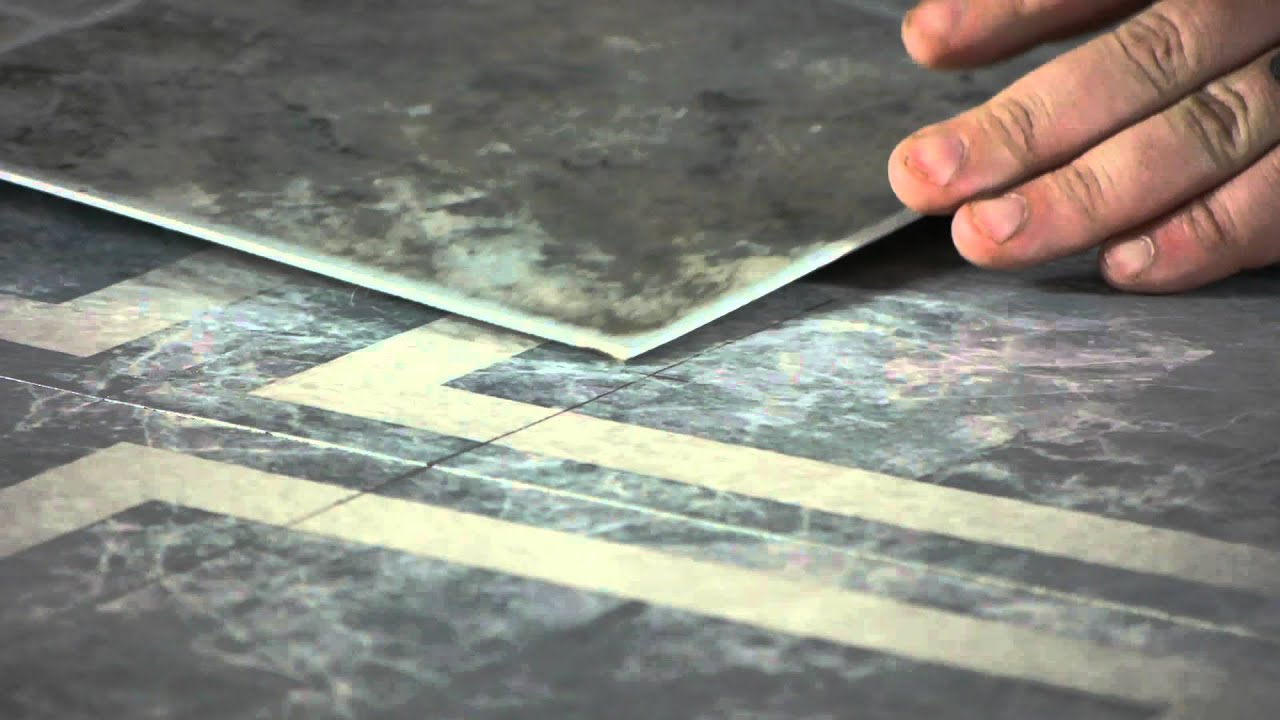 How to Install Linoleum Tile Squares on Existing Tiles : Let's Talk Flooring