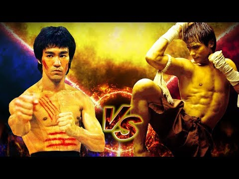 Tony Jaa vs Bruce Lee in Action ☯ Elephant vs Dragon