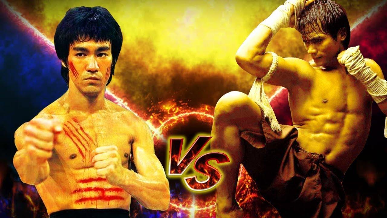 Download Tony Jaa vs Bruce Lee in Action ☯ Elephant vs Dragon
