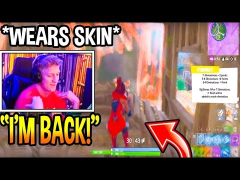Tfue *FINALLY* Wears A SKIN In $1.5M Grand Finals Fortnite! *RETURNED* Fortnite Moments