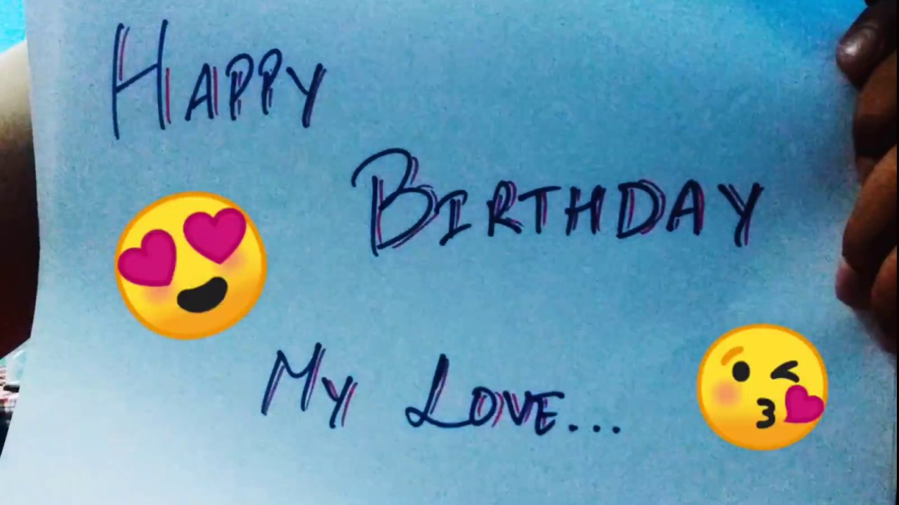 Long Distance Relationship birthday wish to my GF || Long Distance  Relationship