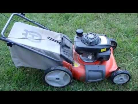 """Husqvarna 21"""" Lawn Mower Model 7021P Honda Engine - Broken Craigslist Find - Nov. 2, 2015"""