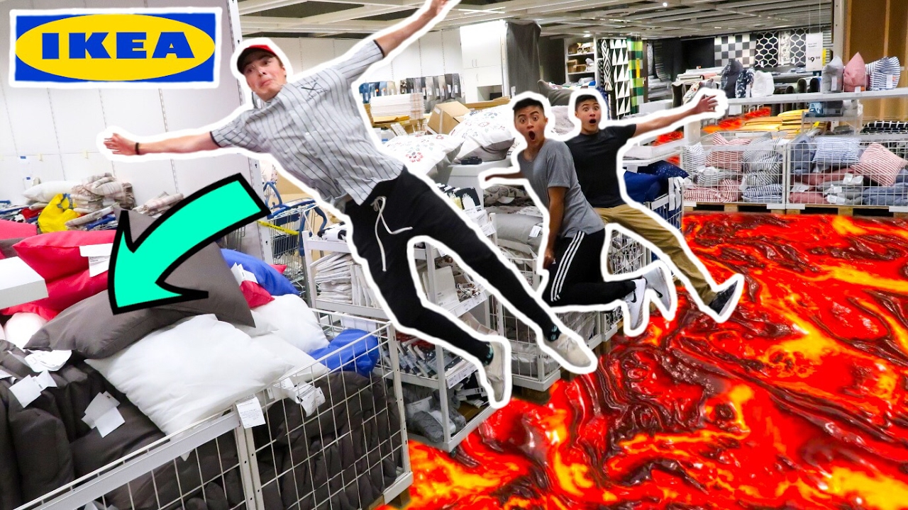 The Floor Is Lava Challenge In Ikea Ft Ireland Boys