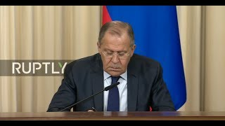 LIVE  Lavrov and Le Drian speak at joint press conference in Moscow   ENGLISH