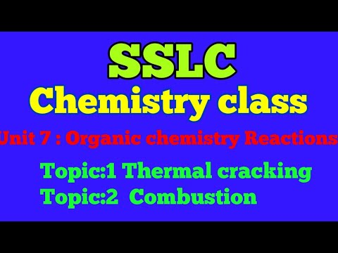SSLC CHEMISTRY CLASS UNIT :7 ORGANIC CHEMISTRY REACTIONS Topic:1 THERMAL CRACKING.Topic:2 Combustion