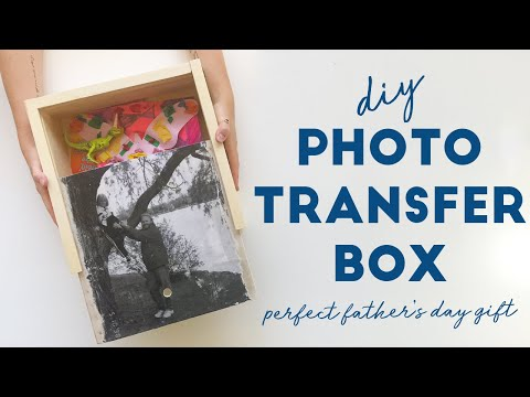 DIY Photo Transfer to Wooden Box!
