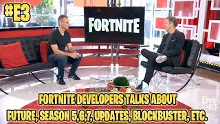 FORTNITE DEVS AT E3 TALKS ABOUT SEASON 5,6,7 & AVENGERS MASH-UP, CROSSPLAY & FUTURE PLANS!