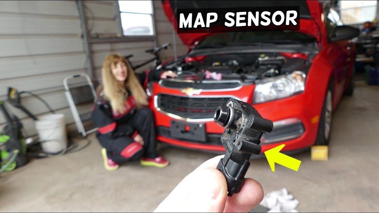 MAP SENSOR REPLACEMENT LOCATION CHEVROLET CRUZE SONIC ...