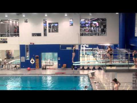 Alexandra (Ali) House diving, back dive 3 m