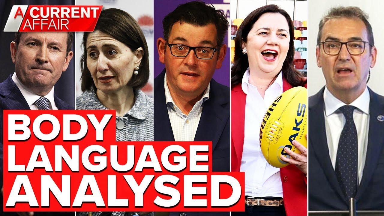 'Human lie detector' analyses body language of Australia's Premiers   A Current Affair