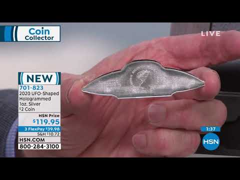 2020 Solomon Islands UFO Flying Saucer Shaped 1oz. Silve…