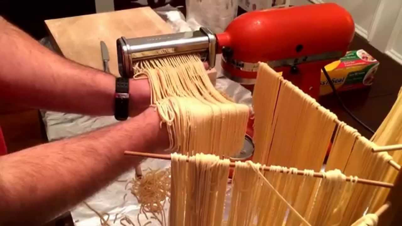 Kitchen Aid Pasta Attachment How To Buy Cabinets Make Fresh Dough With A Kitchenaid Mixer Youtube Premium