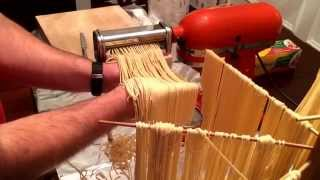 How to make fresh pasta dough with a KitchenAid mixer & pasta attachments(I show you how to make fresh pasta with a KitchenAid mixer and pasta attachments. The recipe and directions are below. Thank you for watching! Semolina ..., 2015-02-22T04:30:22.000Z)