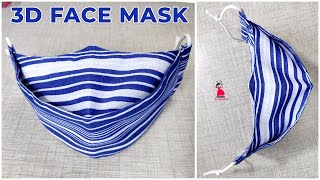 Super Easy 3D Face Mask Face Mask Sewing Tutorial 3D Mask Trending Fashion
