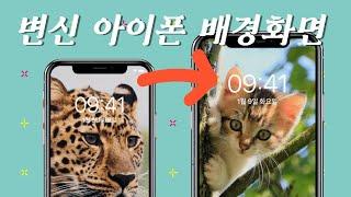 아이폰 찐 잠금화면 배경 숨기는 방법