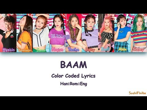 MOMOLAND – BAAM Color Coded Lyrics Han|Rom|Eng
