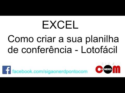 Download Excel - Planilha de conferência Lotofácil