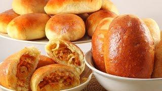 Печёные Пирожки с Капустой, и Мясом. Мягкие как Пушок. Рецепт Универсального Теста