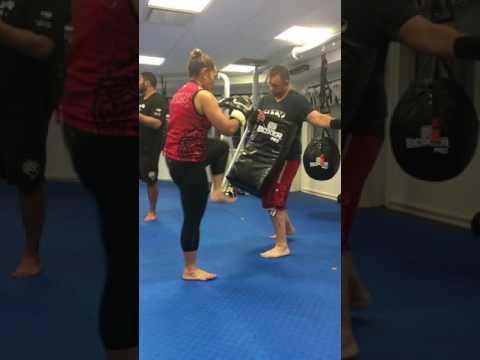 Kickboxing session at BALMORAL Lee Gar today..