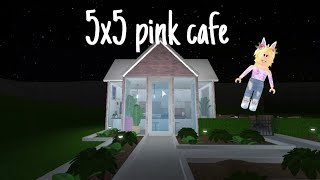 5x5 pink cafe speed build in bloxburg | Roblox