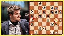 Der Weltmeister brilliert || Magnus Carlsen vs. Azamat Utegaliev || Schnellschach-WM Moskau 2019