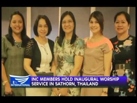 INC members hold inaugural worship service in Sathorn, Thailand
