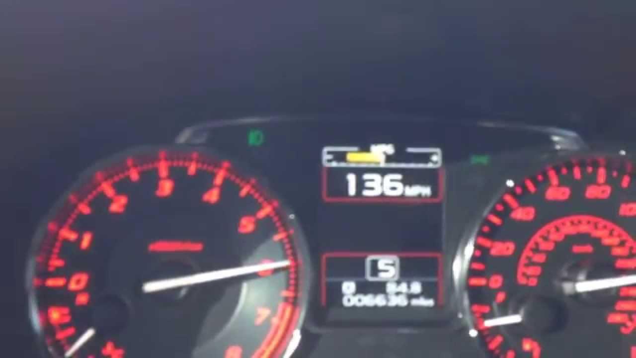 2015 Subaru WRX Top Speed Run - YouTube