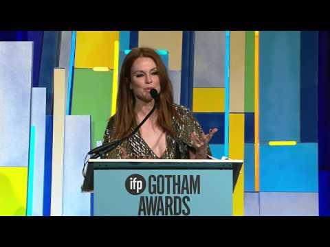 Julianne Moore introducing Gotham Tributee Todd Haynes