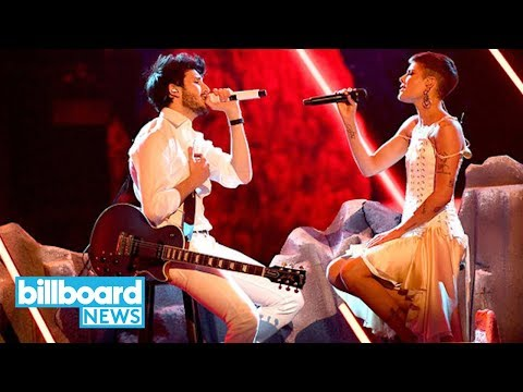 Sebastian Yatra & Halsey Give Intimate Performances of 'Without Me' & 'My Only One' | Billboard News
